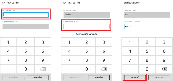 Windows Phone 8 Pin Portefeuille code pin