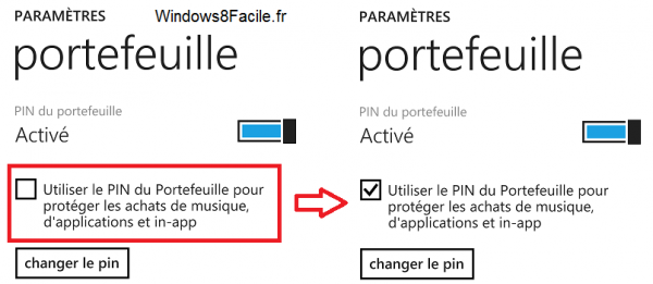 Portefeuille Code Pin Store