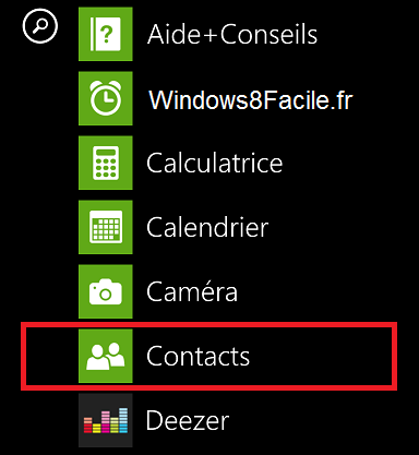 Windows Phone Contact