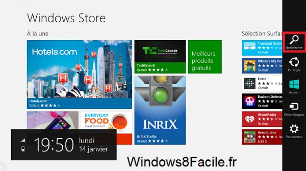 Windows Store Recherche