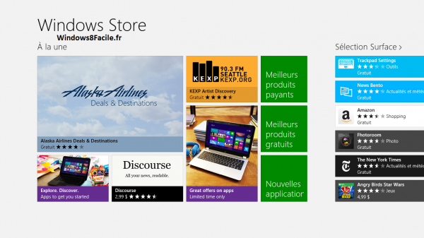 Windows Store Etats-Unis