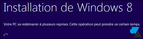 installation Window 8 sur Windows 7