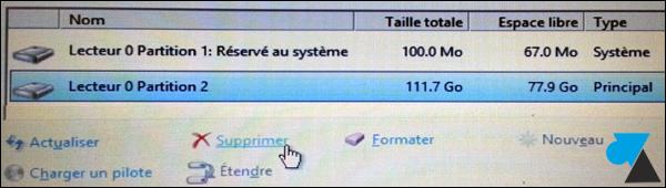 installation Windows formater disque dur