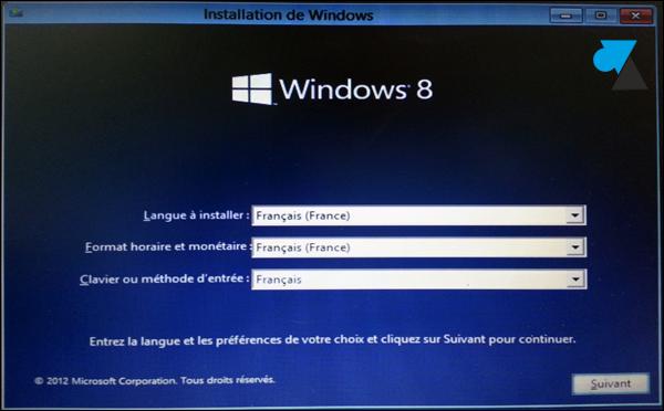 tutoriel comment installer Windows 8 facilement