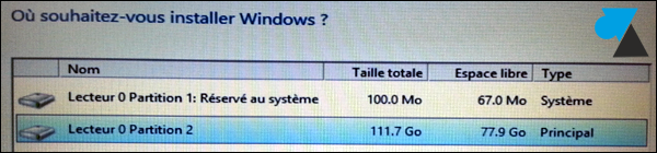 installation Windows formater disque dur