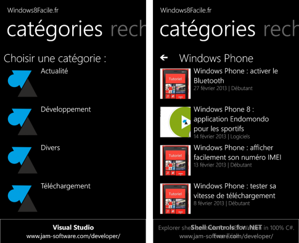 Windows8Facile catégories