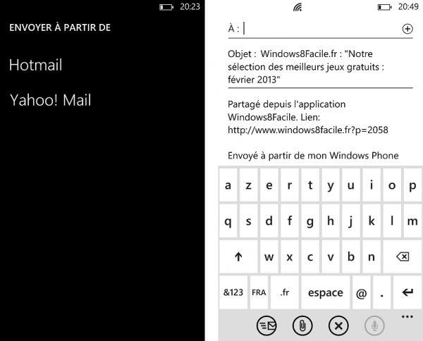 Windows8Facile envoyer email