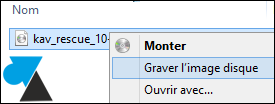 tutoriel Windows clic droit graver