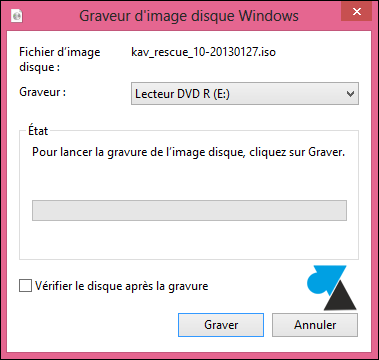 tutoriel Windows clic droit graver ISO image disque fichier