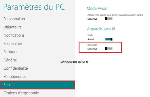 Windows 8 activation bluetooth