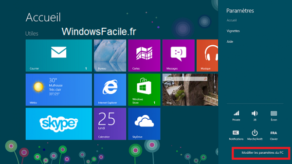 Windows 8 paramètres 2