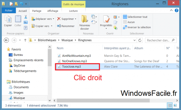 Windows 8 Envoyer fichier