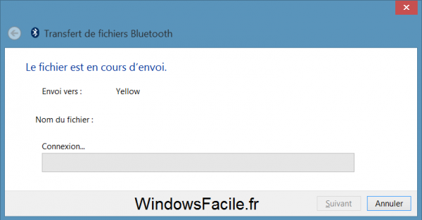 Windows 8 Bluetooth transfert