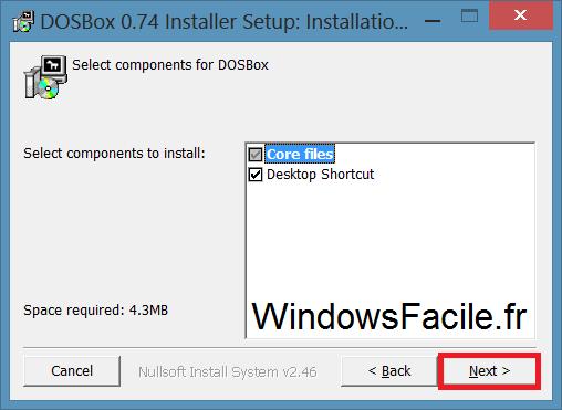 DOSBox installation suite