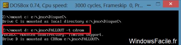 DOSBox Windows 8 mount cdrom