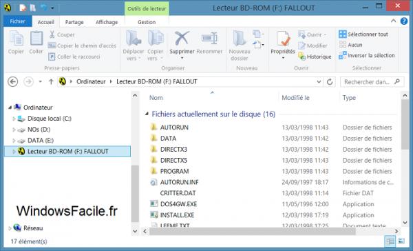 Windows 8 copier jeux cdrom