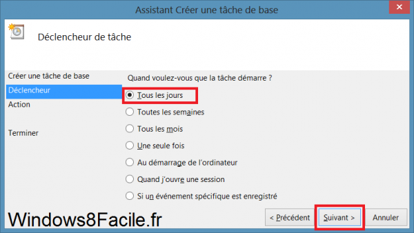 Planificateur réveil tâche de base application