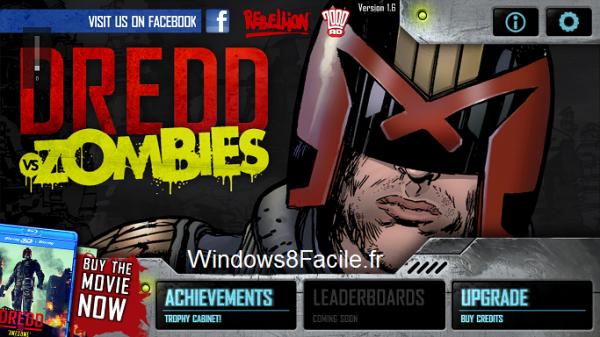 DREDD VS Zombies accueil