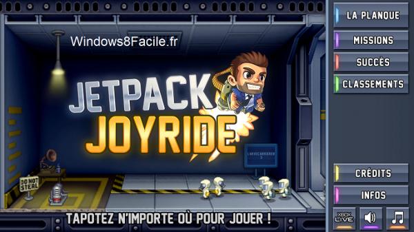 Jetpack Joyride accueil
