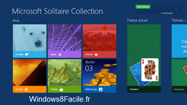 Microsoft Solitaire Collection accueil