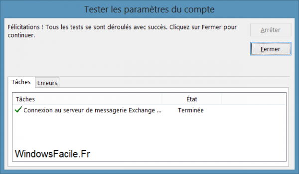 Outlook 2013 synchronisation