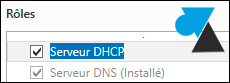 Windows Server 2012 installer role Serveur DHCP