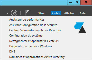 Windows Server 2012 Outils administration domaine