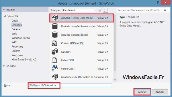 VS2012 ADO.NET