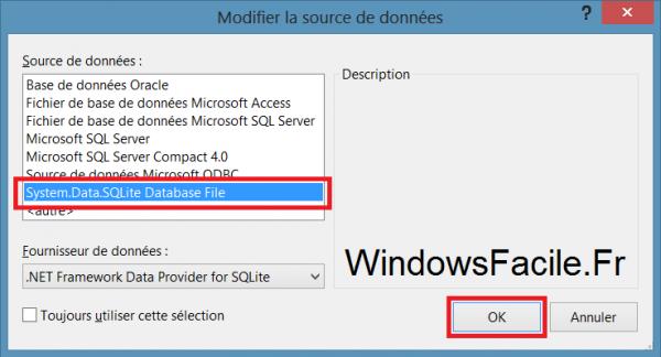 VS2012 SQLite connecteur