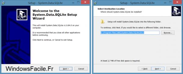 SQLite VS2012 installation