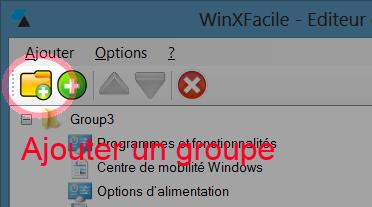 WinXFacile ajouter groupe