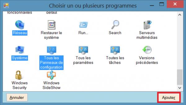 WinXFacile panneau configuration ajout