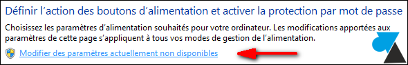 tutoriel Windows modifier alimentation