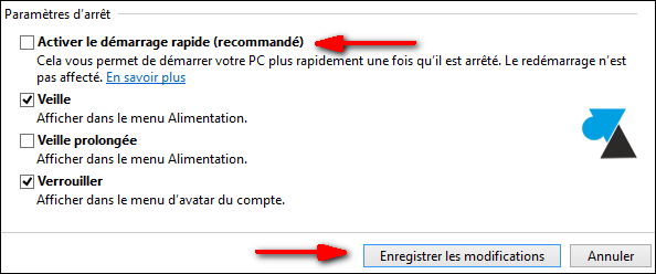 Windows 8 activer demarrage rapide