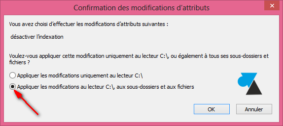 Windows Search indexation desactiver