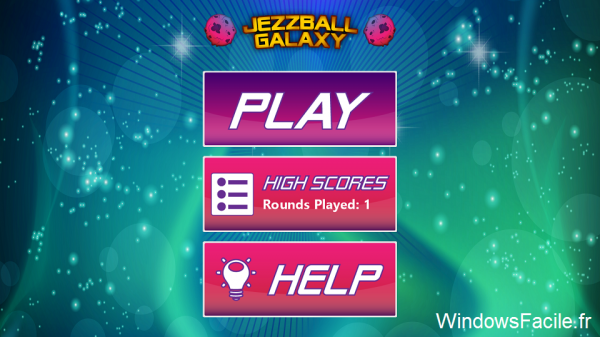 Windows 8 Jezzball galaxy menu