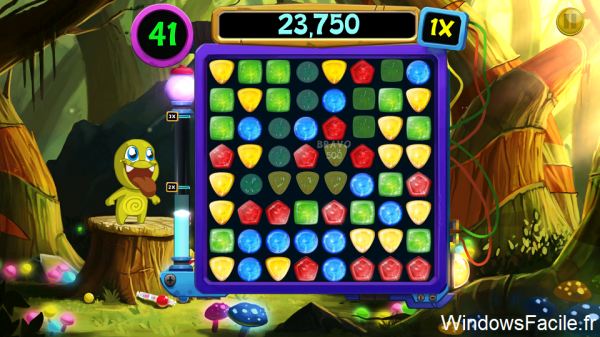 Windows 8 Monsters love candy jeu