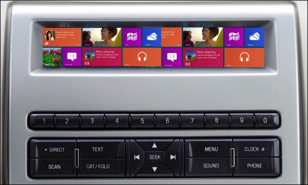 Windows 8 Embedded automobile tableau de bord multimedia