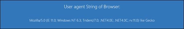 Windows Blue IE11 user agent