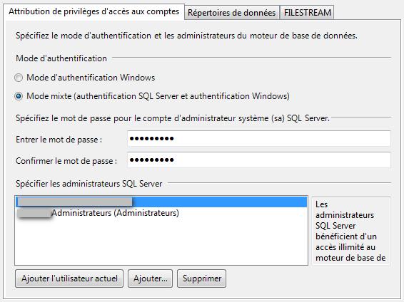 SQL Server 2008 R2 droits utilisateurs