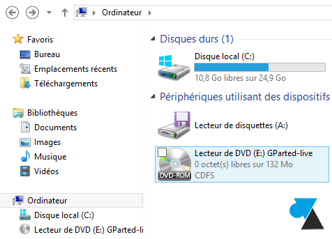 montage fichier ISO Windows 8