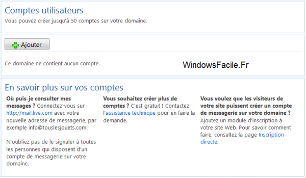 Microsoft domaine email Ok