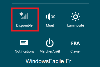 Réseau disponible Windows 8