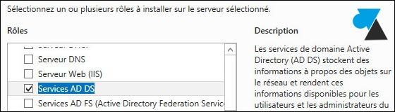 tutoriel Windows Server 2012 ajout role AD DS