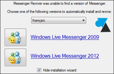 installer Windows Live Messenger 2009 2011 2012 MSN