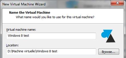 VMware Player installation nom ordinateur