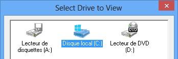 SpaceMonger choisir disque dur