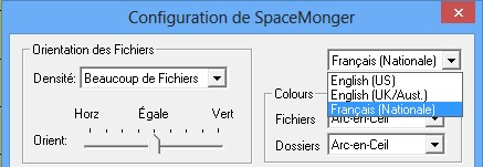 SpaceMonger langue francais anglais