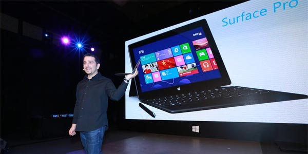 tablette Microsoft Surface Pro presentation show