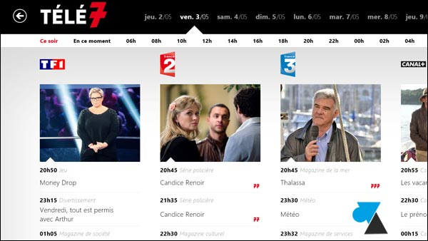 Tele7 programme TV tele7jours application Windows Store